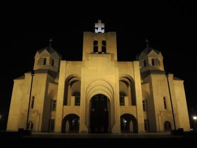 Abstrakte armenische Kirche