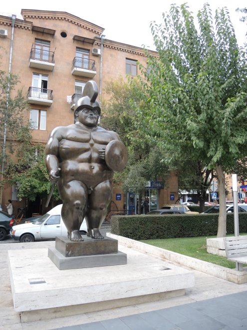 Skurille Skulpturen im PArk