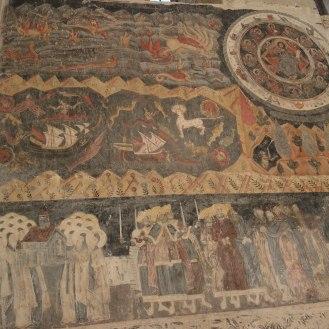 Ein Teil der riesigen Wandmalerei